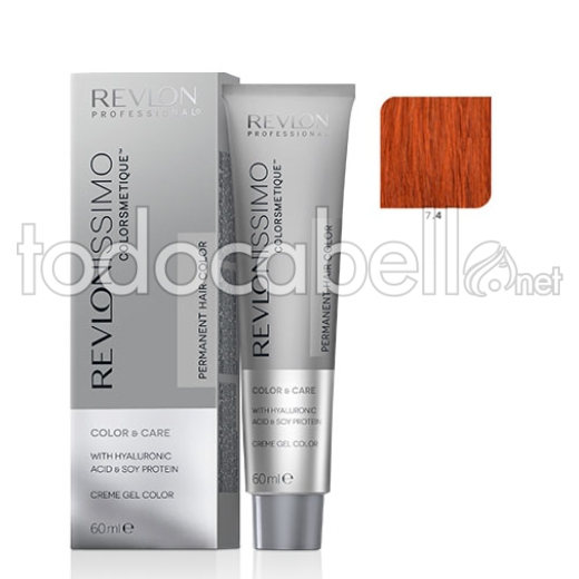 Revlon Tinte Revlonissimo Colorsmetique 7.4 Rubio Cobrizo 60ml.