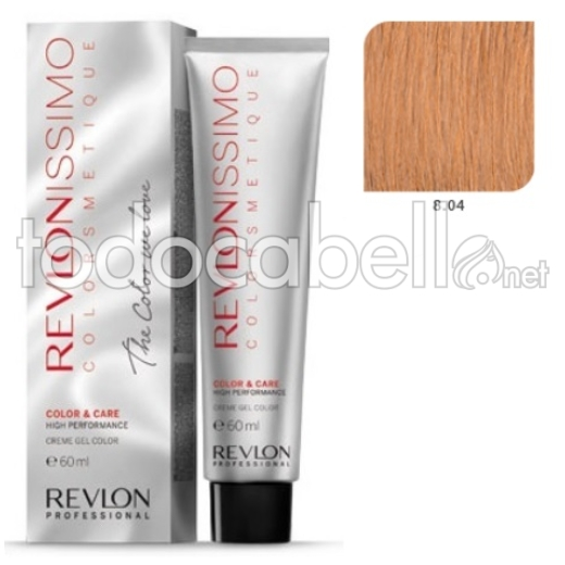 Tinte Revlonissimo Colorsmetique 8.04 Rubio Claro Cobrizo Natural 60ml.