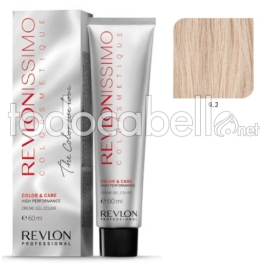 Tinte Revlonissimo Colorsmetique 9.2 Rubio Muy Claro Irisado 60ml.
