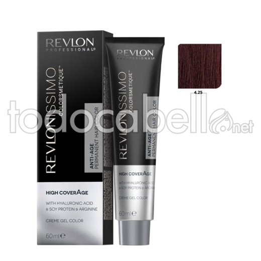 Revlon Tinte Revlonissimo Colorsmetique High Coverage 4.25 Castaño Chocolate 60ml