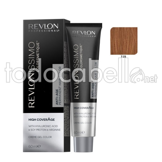 Revlon Tinte Revlonissimo Colorsmetique High Coverage 7.23 Rubio Nacarado 60ml