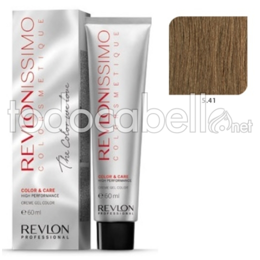 Tinte Revlonissimo Colorsmetique 5.41 Castaño Claro Marrón Profundo 60ml.