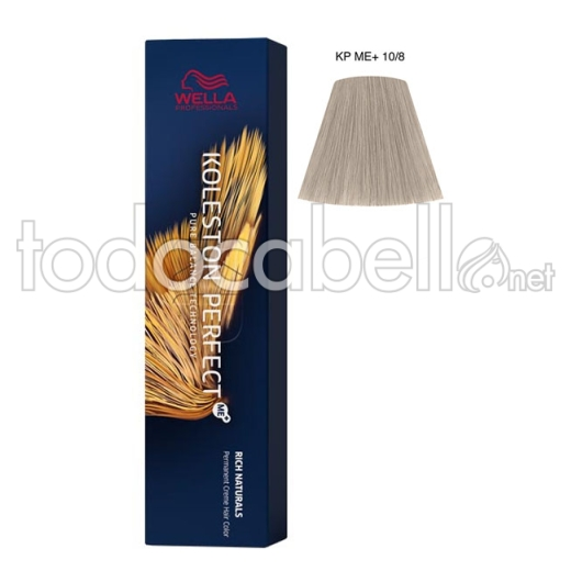 Wella Koleston Perfect ME+ Rich Naturals 10/8 Rubio Super Claro Perla 60ml + Welloxon Crema Activadora 60ml