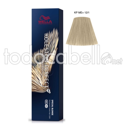 Wella Koleston Perfect ME+ Special Blonde 12/1 Superaclarante Rubio Ceniza 60ml + 2 Welloxon Crema Activadora 60ml