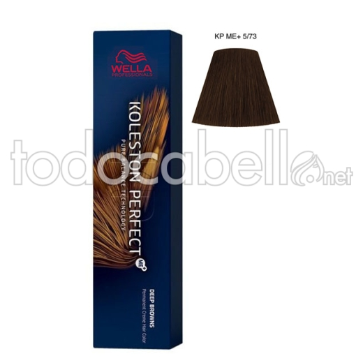 Wella Koleston Perfect ME+ Deep Browns 5/73 Castaño Claro Marrón Dorado 60ml + Welloxon Crema Activadora 60ml