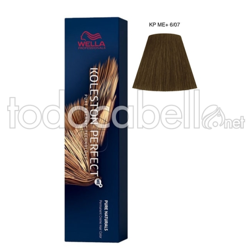 Wella Koleston Perfect ME+ Pure Naturals 6/07 Rubio Oscuro Natural Marrón 60ml