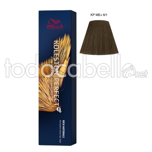 Wella Koleston Perfect ME+ Rich Naturals 6/1 Rubio Oscuro Ceniza 60ml + Welloxon Crema Activadora 60ml