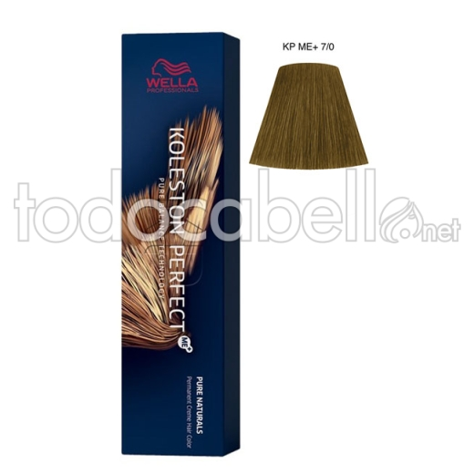 Wella Koleston Perfect ME+ Pure Naturals 7/0 Rubio Intenso Mediano  60ml