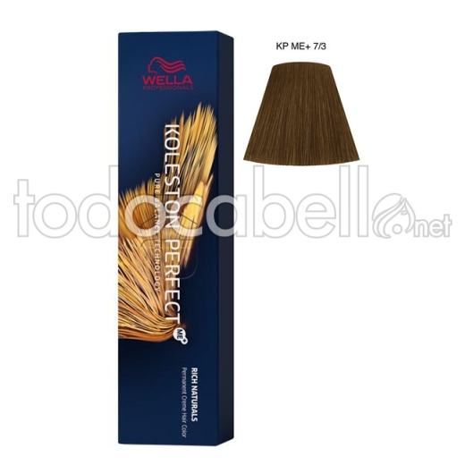 Wella Koleston Perfect ME+ Rich Naturals 7/3 Rubio Medio Dorado 60ml + Welloxon Crema Activadora 60ml