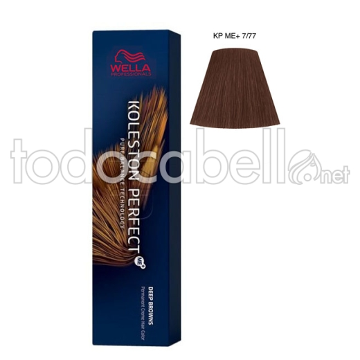 Wella Koleston Perfect ME+ Deep Browns 7/77 Rubio Medio Marrón Intenso 60ml + Welloxon Crema Activadora 60ml