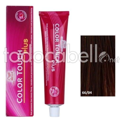 Wella Tinte Color Touch PLUS 66/04 Rubio Oscuro Intenso 60ml