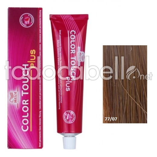 Wella Tinte Color Touch PLUS 77/07 Rubio Medio Natural Marrón 60ml