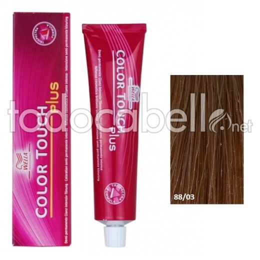 Wella Tinte Color Touch PLUS 88/03 Rubio Claro Natural Dorado 60ml