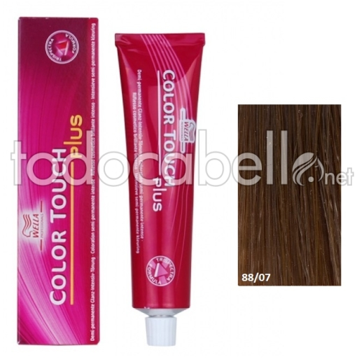 Wella Tinte Color Touch PLUS 88/07 Rubio Claro Natural Marrón 60ml +2 Emulsiones  60ml
