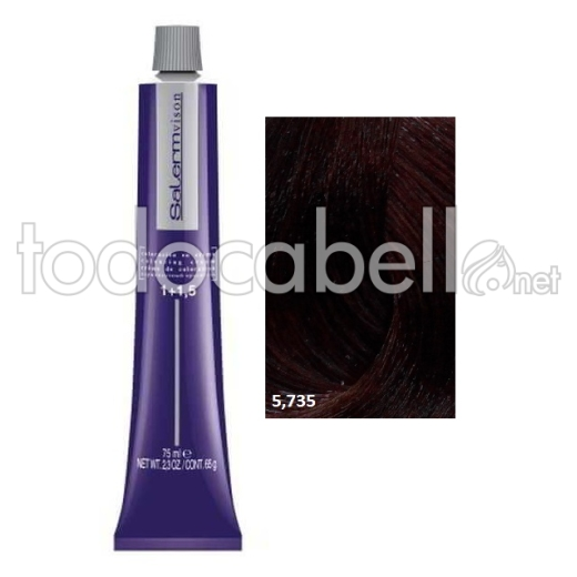 Tinte Salermvison 5,735 Castaño Claro Chocolate Brasil 75ml