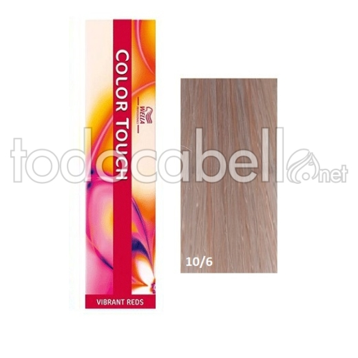 Wella Tinte COLOR TOUCH 10/6 Rubio Super Claro Violeta 60ml +2 Emulsiones  60ml