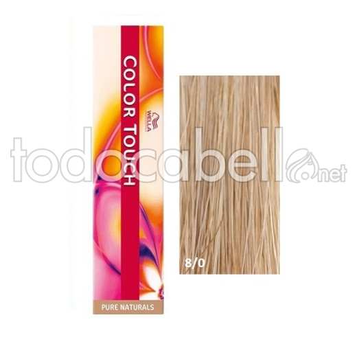Wella Tinte COLOR TOUCH 8/0 Rubio Intenso Claro 60ml + 2 Emulsiones  60ml