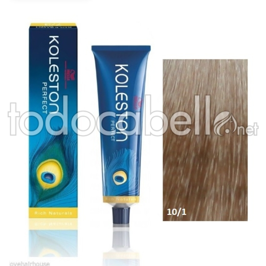 Wella Tinte KOLESTON PERFECT 10/1 Rubio Super Claro Ceniza 60ml + Welloxon Crema Activadora 60ml