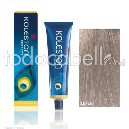 Wella Tinte KOLESTON PERFECT 10/16 Rubio Super Claro Ceniza Violeta 60ml + Welloxon Crema Activadora 60ml