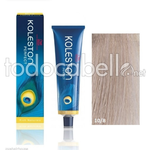 Wella Tinte KOLESTON PERFECT 10/8 Rubio Super Claro Perla 60ml + Welloxon Crema Activadora 60ml