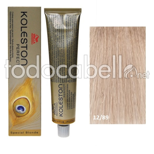 Wella Tinte KOLESTON PERFECT 12/89 Superaclarante Rubio Perla Cendre 60ml + 2 Welloxon Crema Activadora 60ml