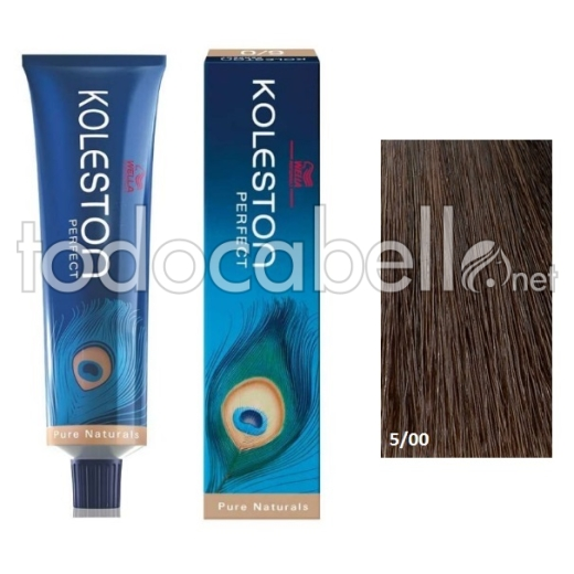 Wella Tinte KOLESTON PERFECT 5/00 Castaño Claro Natural 60ml + Welloxon Crema Activadora 60ml