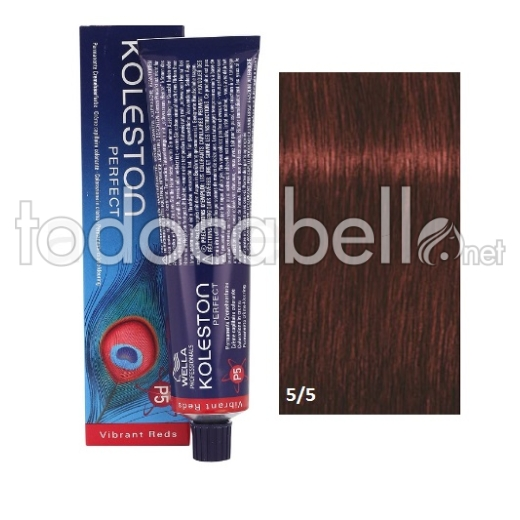 Wella Tinte KOLESTON PERFECT 5/5 Castaño Claro Caoba 60ml + Welloxon Crema Activadora 60ml