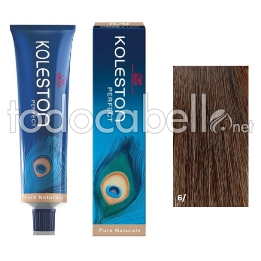 Wella Tinte KOLESTON PERFECT 6/ Rubio Oscuro Puro 60ml + Welloxon Crema Activadora 60ml