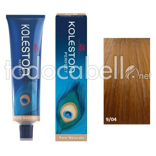 Wella Tinte KOLESTON PERFECT 9/04 Rubio muy Claro Natural Cobrizo 60ml + Welloxon Crema Activadora 60ml