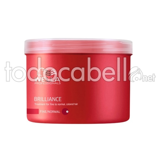 Wella BRILLIANCE Máscarilla Cabello Coloreado Fino/Normal 500ml