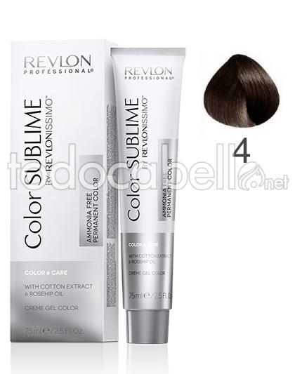 Revlon Tinte Color SUBLIME Revlonissimo 4 Castaño Sin Amoniaco 75ml