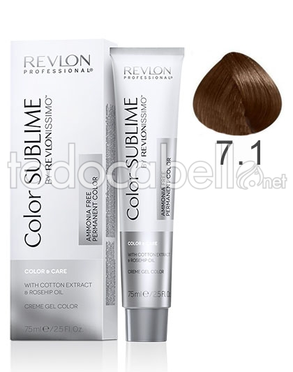 Revlon Tinte Color Sublime Revlonissimo 71 Rubio Ceniza Sin Amoniaco 75ml